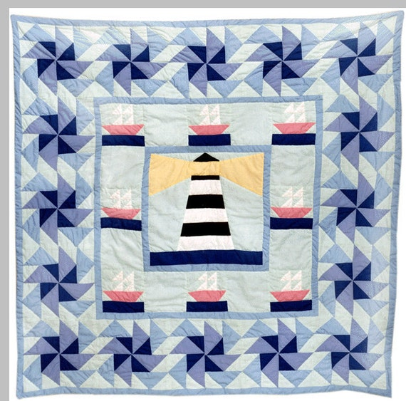 Quilting Lighthouse Patterns : Lighthouse Baby Quilt Pattern
