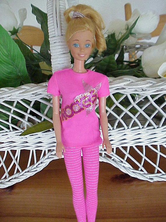 Vintage BARBIE Doll 3 OUTFITS Shoes Guitar Jewelry 1966
