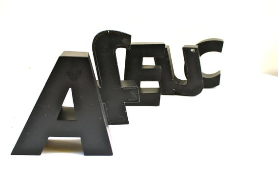 Sale Metal Letters Salvage