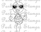 Park Ave Stamps Bikini Bee Digital Stamp