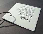 Luggage tag that will help you with your ..uh weight issues. LE MINI personalized birthday gift.