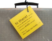 Clever luggage tag C'est Superbe! labels - Personalized Luggage Tag assisting you on YOUR travels. LE MINI.