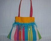Little girl's fringe beaded purse
