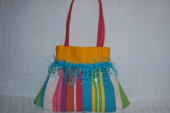 Little girl's fringe beaded purse
