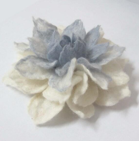 Felt Flower Brooch , eco friendly holiday gift christmas gift idea wedding jewelry handmade flower