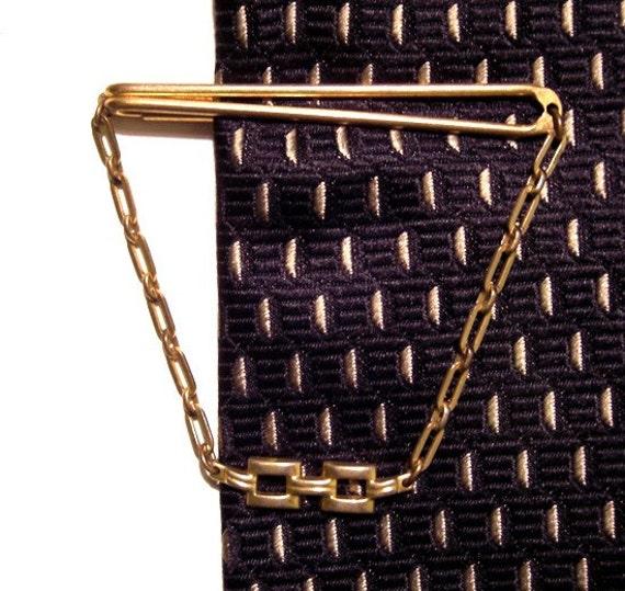 SWANK gold vintage TIE CLIP