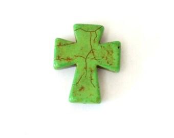 Medium Lime Green Stone Cross
