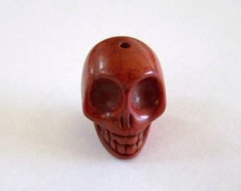 Skull Large Chocolate Brown Stone Bead