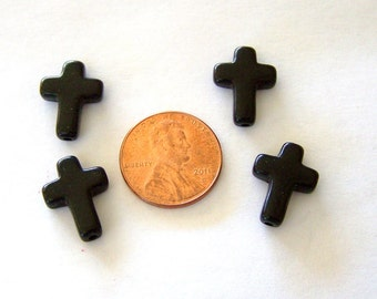 Tiny Black Stone Crosses