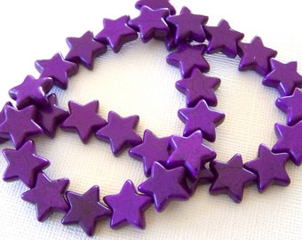 Starry Starry Night Little Purple Stone Star Strand
