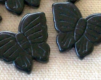 Black Magnesite Butterfly Beads Perfect for Earrings