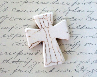 Large Cream Colored Howlite Cross