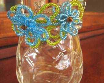 Beaded Glass Jar