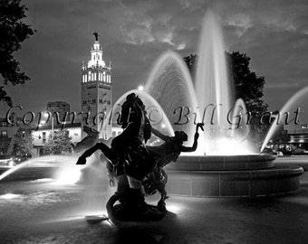 Kansas City Country Club Plaza - 8x10 Fine Art Photograph 5x7 8x10 11x14 16x20 24x30