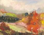 Original Acrylic Painting Impressionist Landscape Trees Sky Temecula California