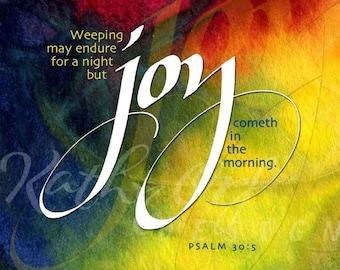 Joy cometh in the morning artwork