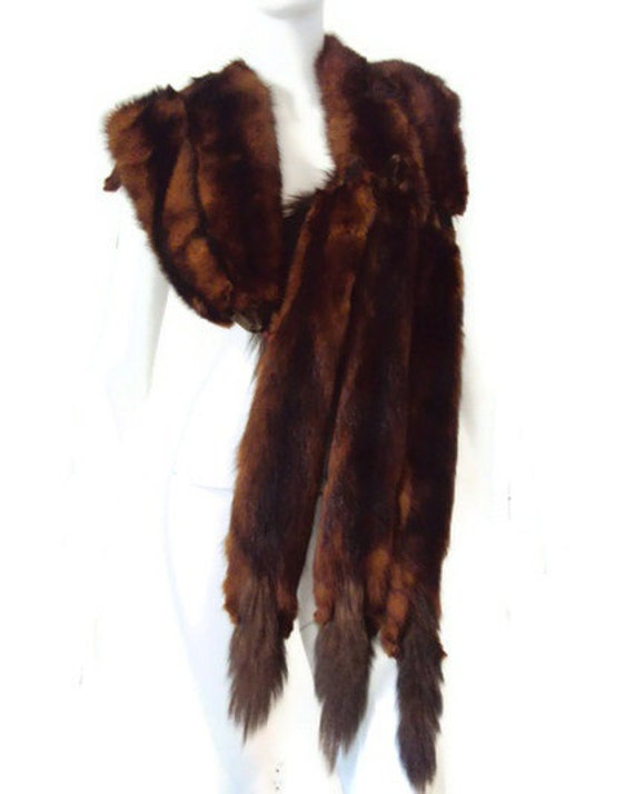 Vintage 1940 S Mink Stole 8 Pelt Stole By Yesterdayssilhouette
