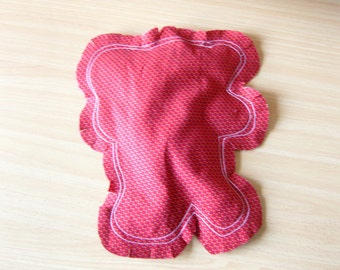 Sweetheart Red Teddy Bear Hot/Cold Therapy/Sensory Rice Bag