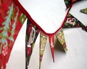 PEACE ON EARTH Red and Green Christmas Banner - theblissfulstitcher