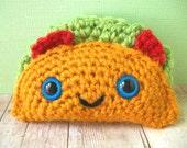 Crochet Taco Soft Toy Plush Amigurumi