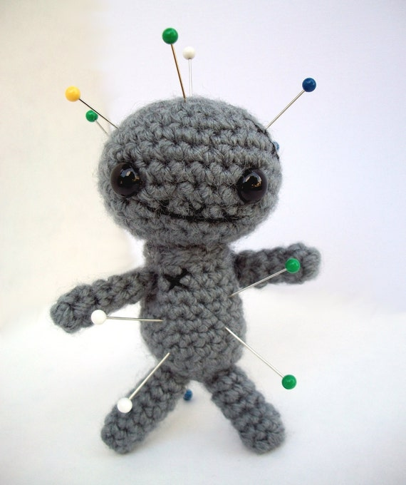 Crochet Amigurumi Voodoo Doll : Items similar to Amigurumi Voodoo Doll Pin Cushion Crochet ...