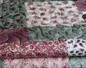 Lap Quilt-Twin Quilt - Girls Quilt-My Shabby Rose