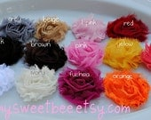 Shabby Flower Hair Clip, Baby Hair Clip, Toddler Hair Clip, Baby Hair Bow- You Pick Three