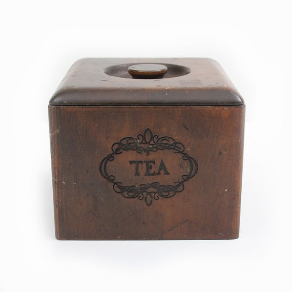 Wooden Shabby Chic Tea Box Cannister