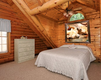 Bear Photograph - Rustic Photography - Animal Art - Home Decor - Wall Art - Large Photograph - Rustic Decor - Brown and Tan - Cabin Decor