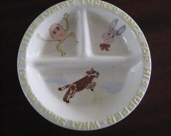 Vintage Baby Dish Nursery Rhyme SALE