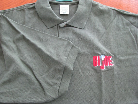 Hasbro Vintage GI JOE Polo shirt  1980s