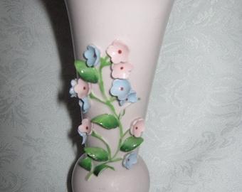 Pink Shabby Chic Vase Lefton