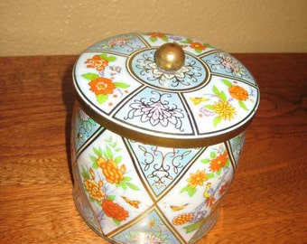 Vintage Blue Tin Collectible by Daher