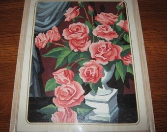 Shabby Chic Vintage  Pink Rose Painting