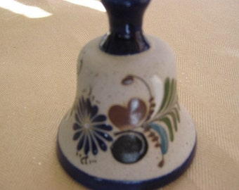 Mexican Pottery Collectible Bell Hand Crafted Mazatlan