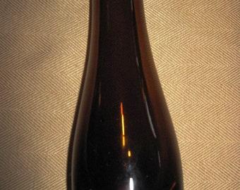 Vintage Amber Blown Glass Vase