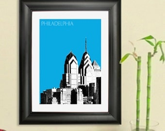 Philadelphia Skyline Print - Liberty Place 1 City Skyline Poster Art Print - 8x10 - Choose your color