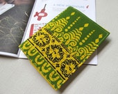 Passport Cover - Olive  Green and Pear Yellow (2)
