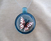 Cascade Butterfly - Handmade Linh Le Glass Pendant Necklace Borosilicate Boro Lampwork