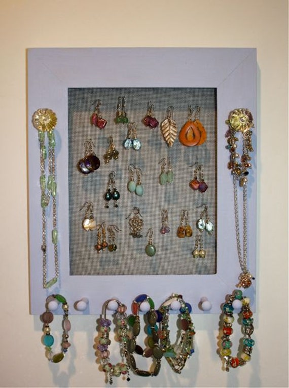Jewelry Screen Holder - Earring Organizer.