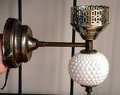 Vintage Fenton Hobnail Milk Glass Wall Sconce