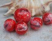Handmade polymer clay beads Reserved listing for lejonklou