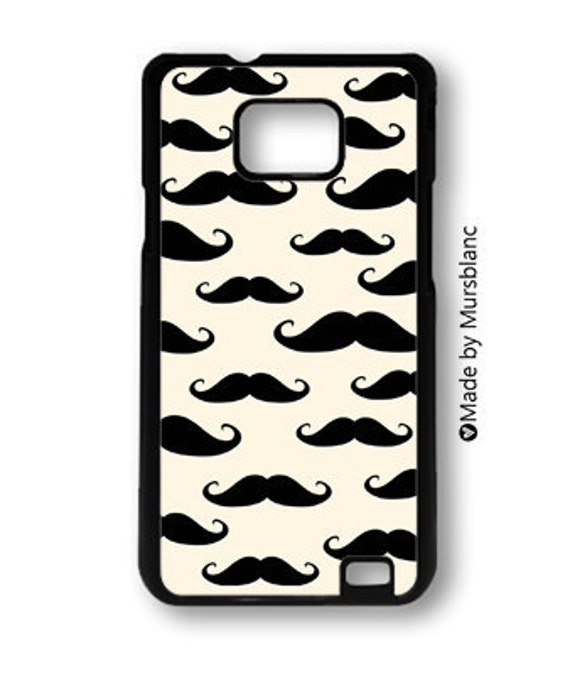 samsung galaxy case. Mustache, Facial hair, Italian, French, Beard, Gifts for men, patterns, Monsieur Moustache, black and cream