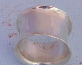 Sterling silver ring ,hand  wrought, anticlasticly raised,hand hammered