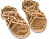 "Soft Rope Sandals-""Jesus sandals"" -Size W7 M6/Natural/Nomadic/Boho chic/Hippie/Vegan/Natural/Unisex/Barefoot feeling"
