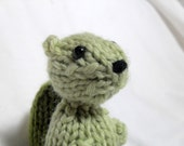 Hand Knit Squirrel Spring Green Ready To Ship