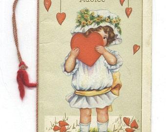 valentine booklet cord vintage 1900 - Robin's Advice