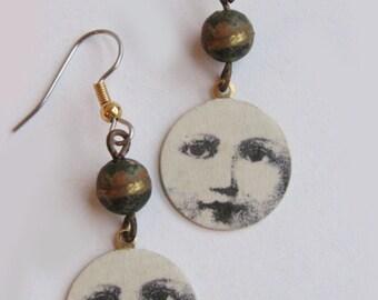 lesaet face earrings