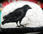 THE RAVEN Madville Studios Adult Hand Crafted and Designed Raven Soft  Wool HAT