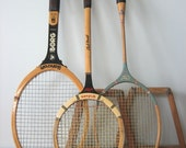 Vintage Wood Racket Trio